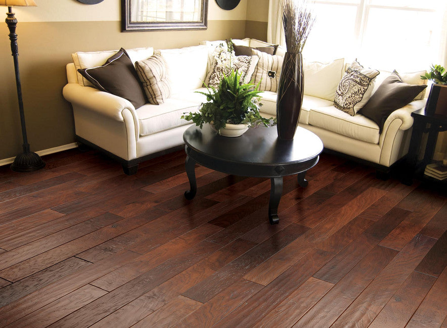 Handscraped Engineered Wood Flooring -Leather Hickory - US Hardwood Manufacturer Of Flooring And Walls €� From The Forest, LLC