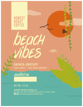 Product image of Honest Roast Coffee Beach Vibes Light Roast Fair Trade Organic Single Origin Coffee