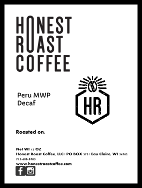 Product image of Honest Roast Coffee Peru Royal Select MWP Single Origin Decaf Coffee