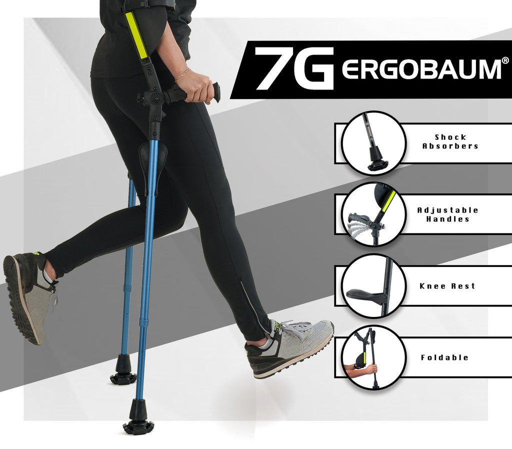 Forearm Crutches for Adults - Ergobaum 7G Royal (Pair)