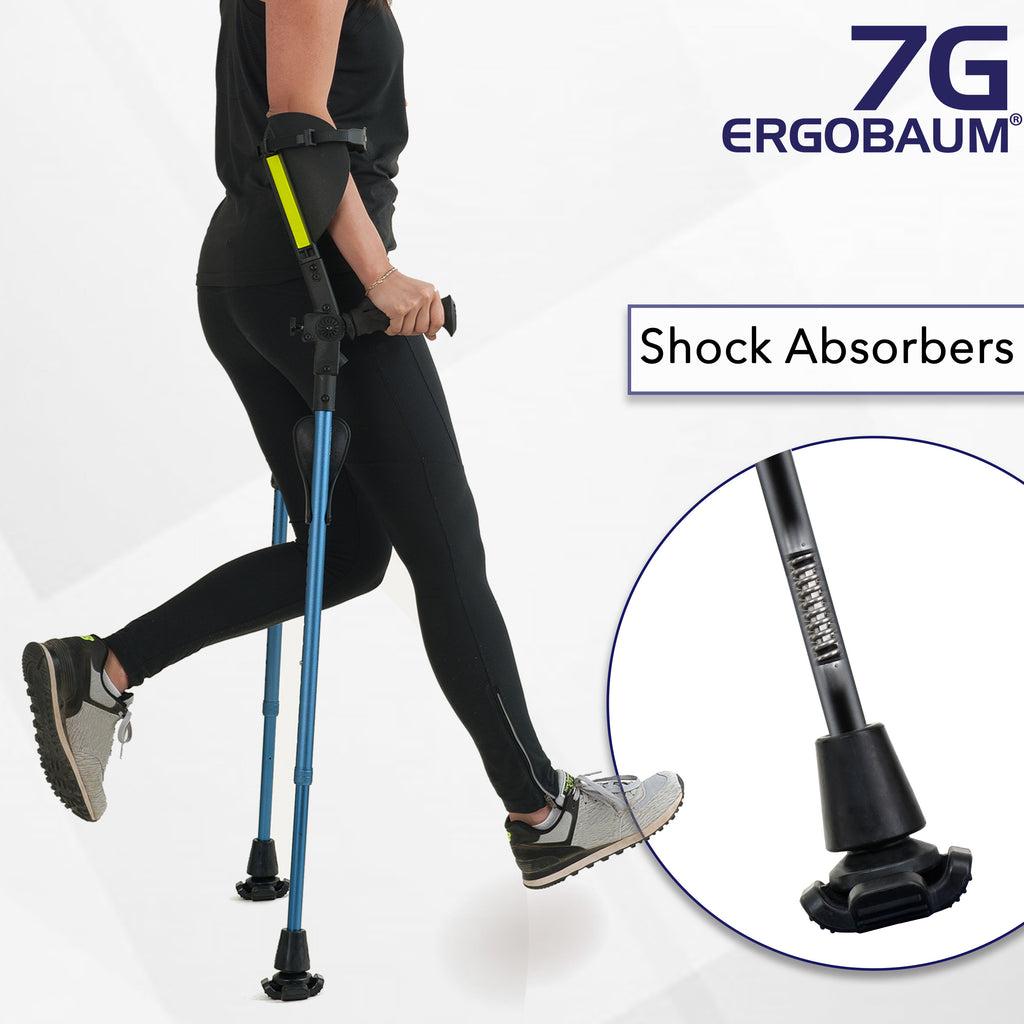 Forearm Crutch In Black Color By Ergobaum