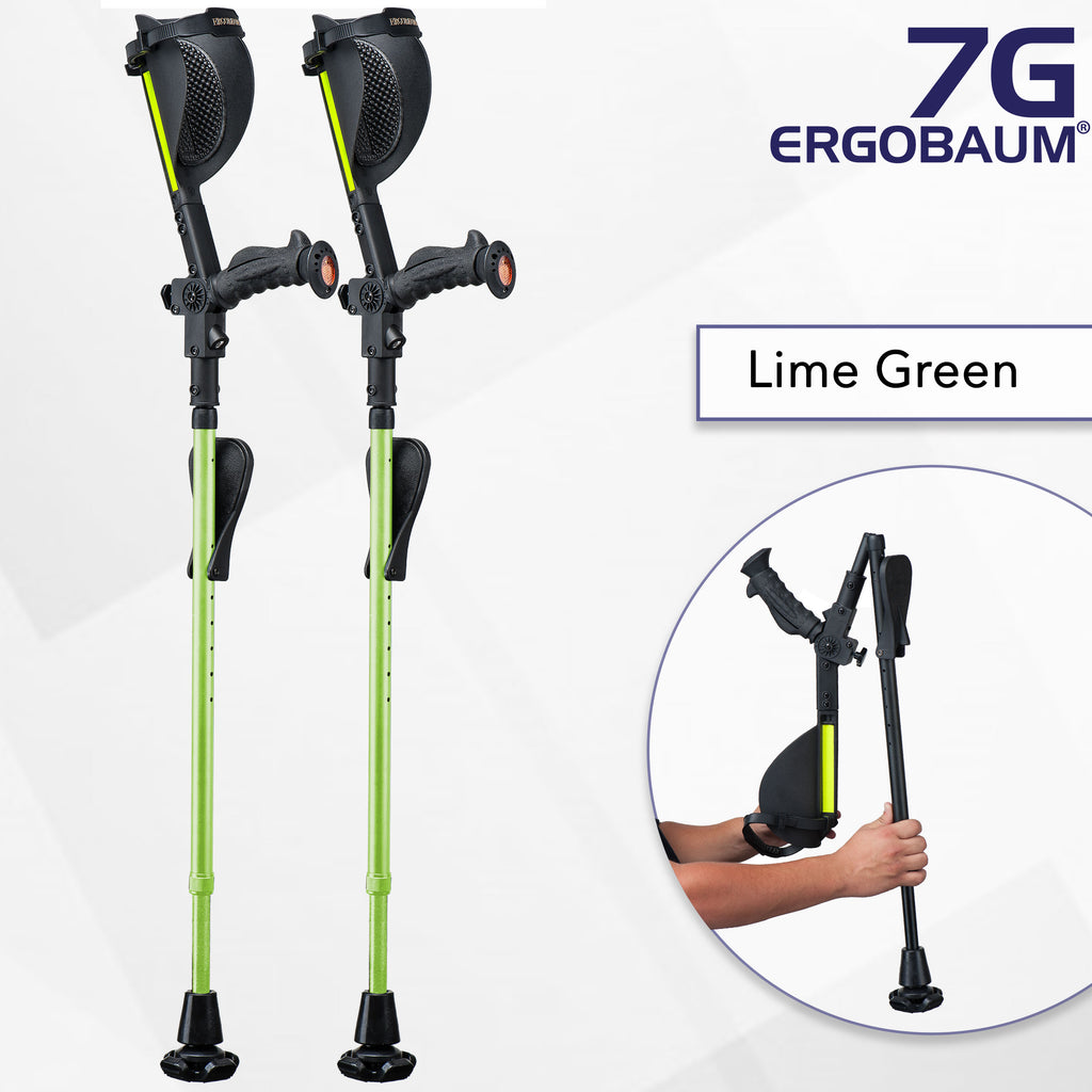 green forearm crutches