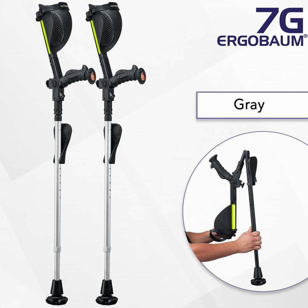 Crutches for Adults - Ergobaum 7G Royal (Pair)