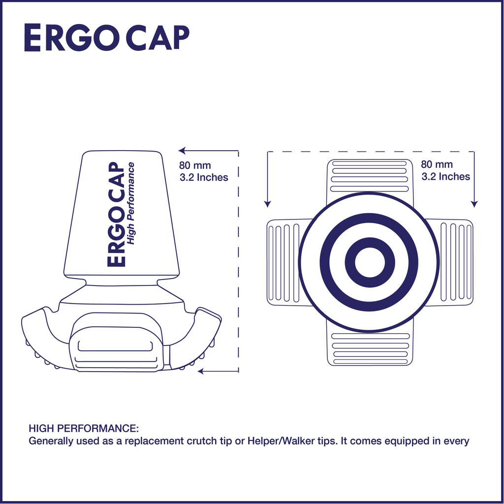Crutch Tip Diagram of Ergocap High Performance