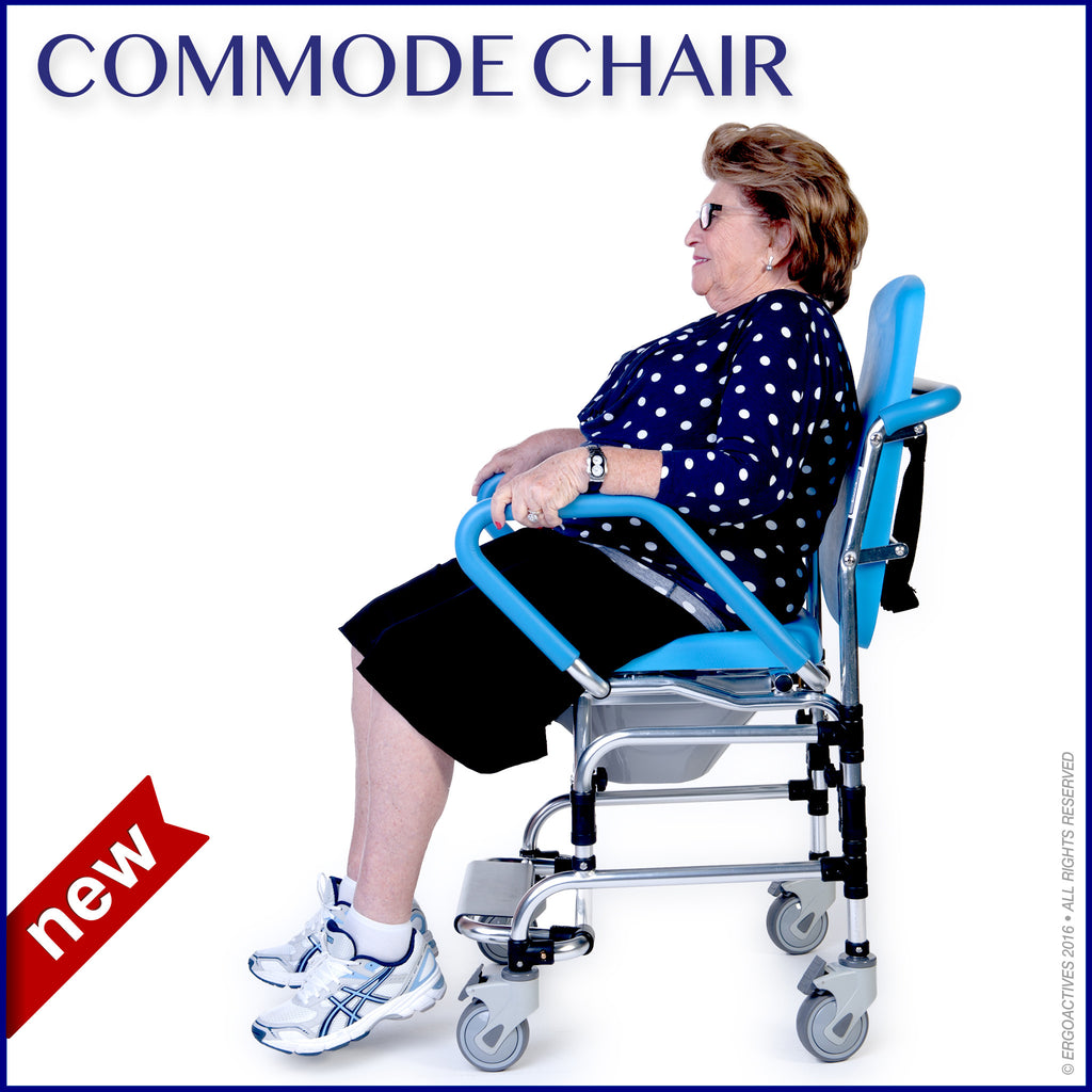 Commode Chair With Woman Sitting