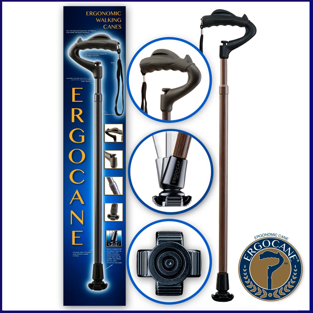 Ergocane Fully-Adjustable Ergonomic Cane- As Seen On TV