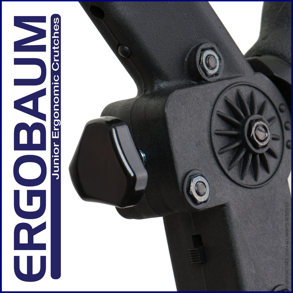 Crutches For Kids by Ergobaum Back View Adjustable Knob