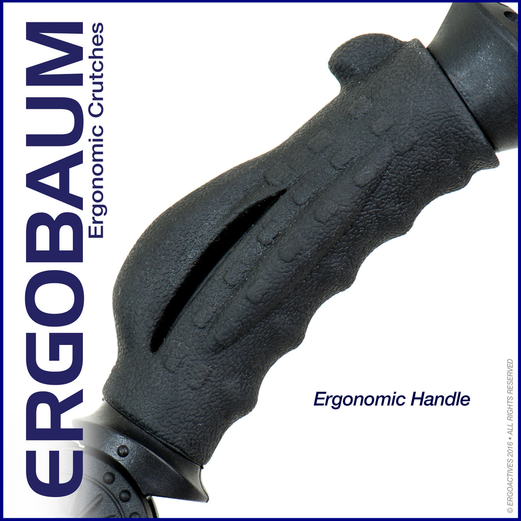 Crutch With Ergonomic Handle - Ergobaum Crutch