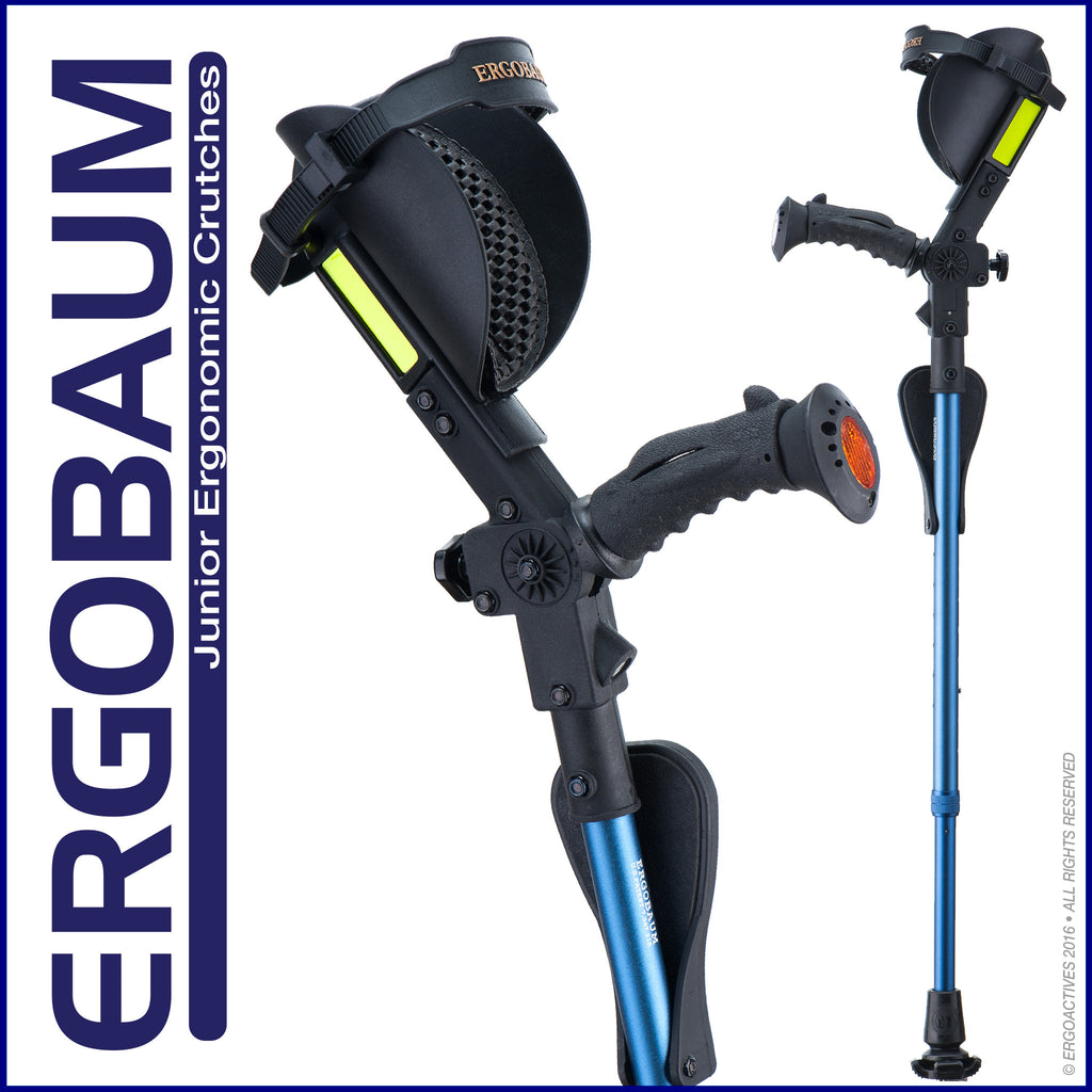 Crutches for kids and juniors by Ergobaum - Color Blue