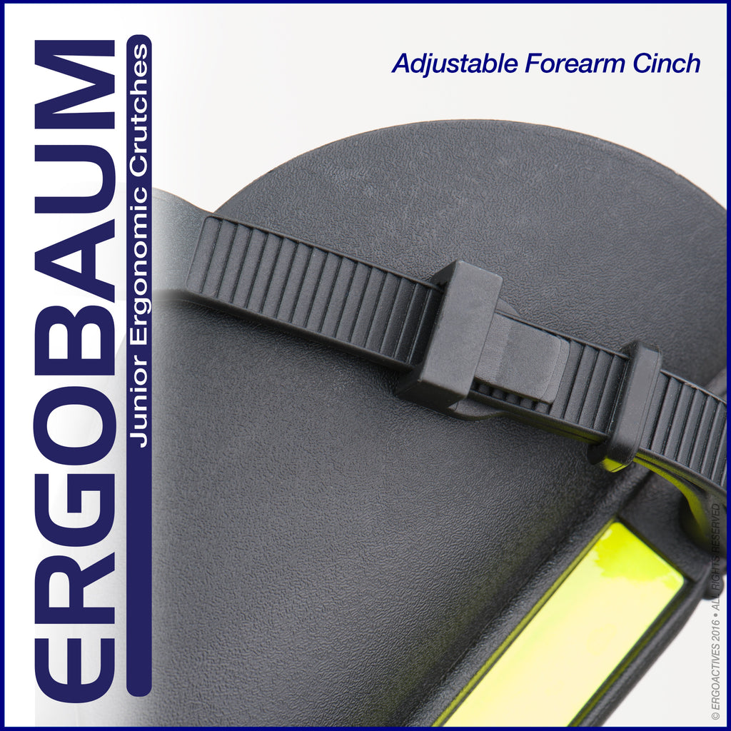 Crutches For Kids by Ergobaum Adjustable Cinch