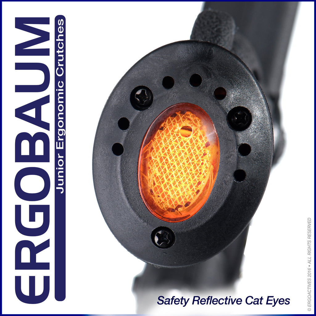 Crutch for Kids With Safety Reflector Eye-cat  by Ergobaum