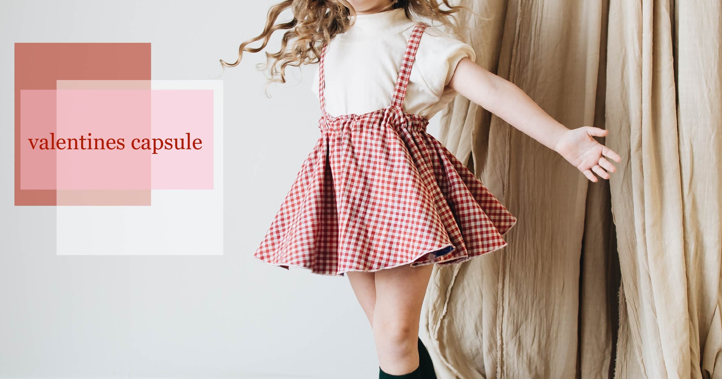 valentines kid clothing capsule collection