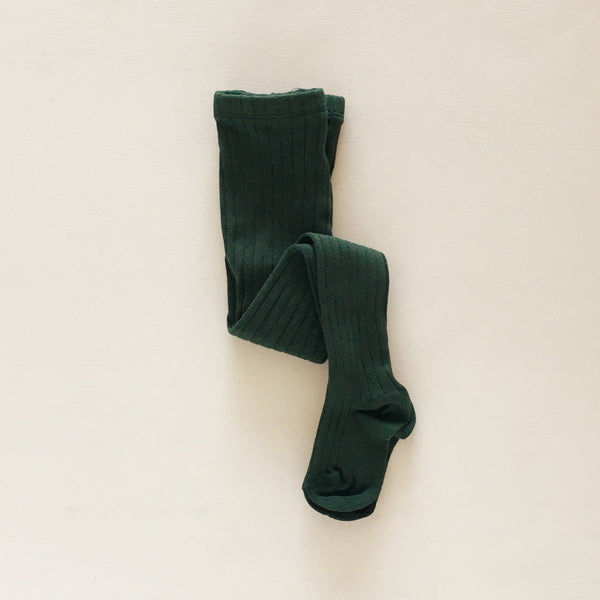 ribbed tights | evergreen