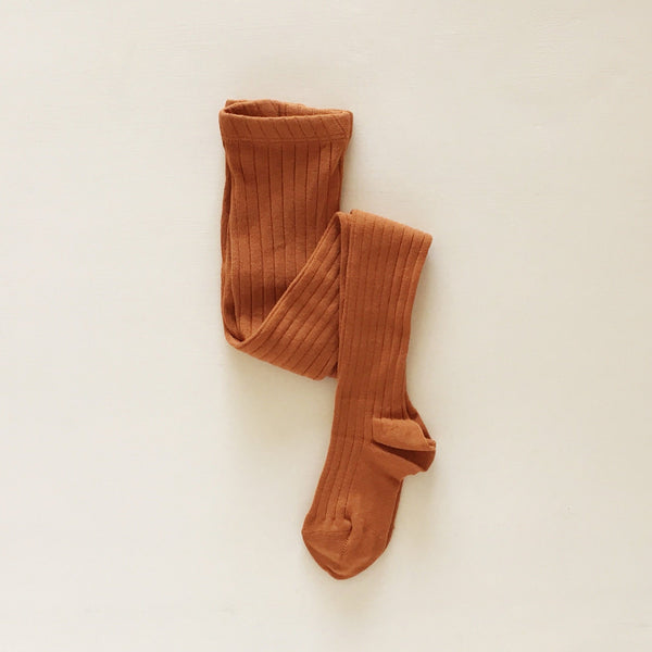 ribbed tights | rust