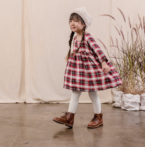 babydoll dress | school girl plaid