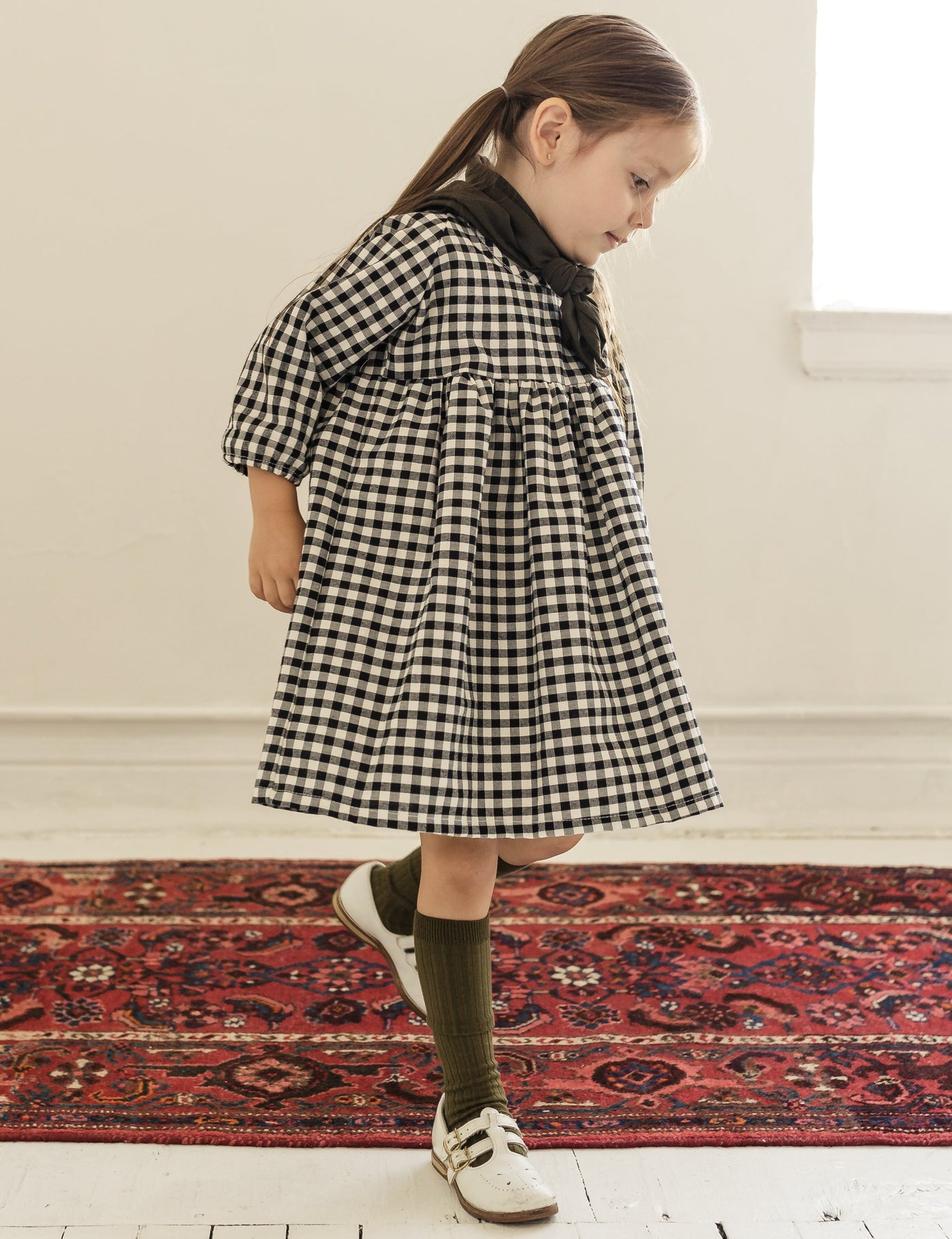 field dress | bw gingham