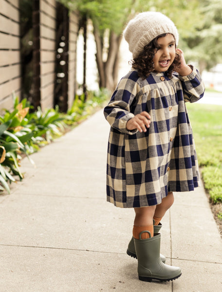 winnie dress | navy gingham