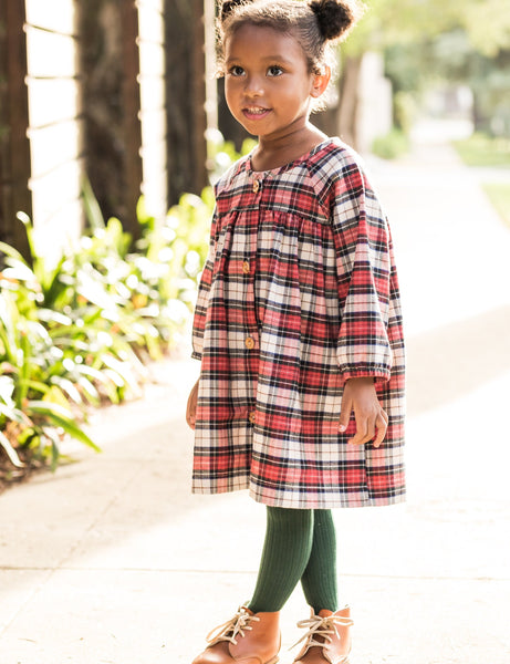 winnie dress | holiday plaid