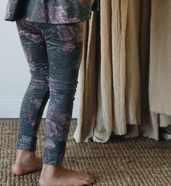 slim leggings | heather floral