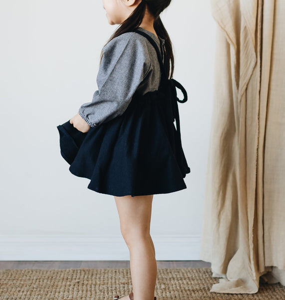suspender mini skirt | navy