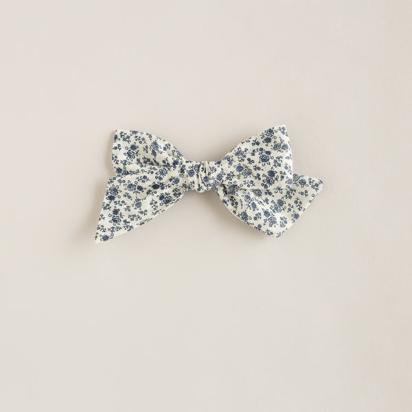 oversized bow | navy floral