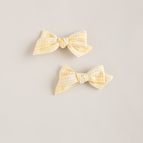 pigtail set bows | ray of sun