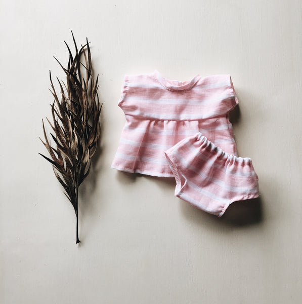 doll | summer set | rosewater stripe