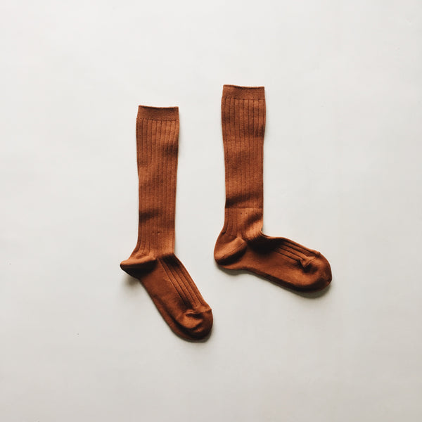 knee high socks | rust