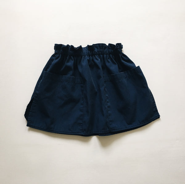fannie skirt | ooak | navy pockets | size 2/3y