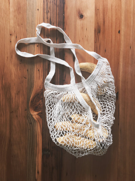 long handle market bag | cotton mesh bag