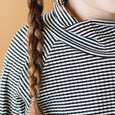 alice tee | bw stripe