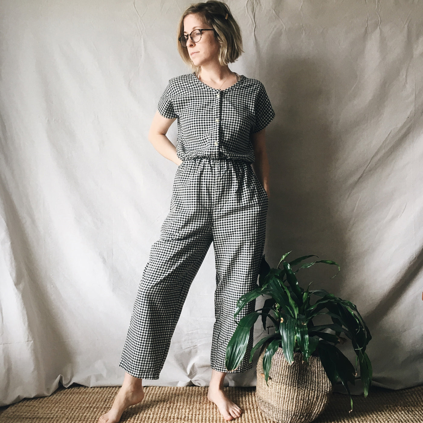 ellis jumpsuit | gingham