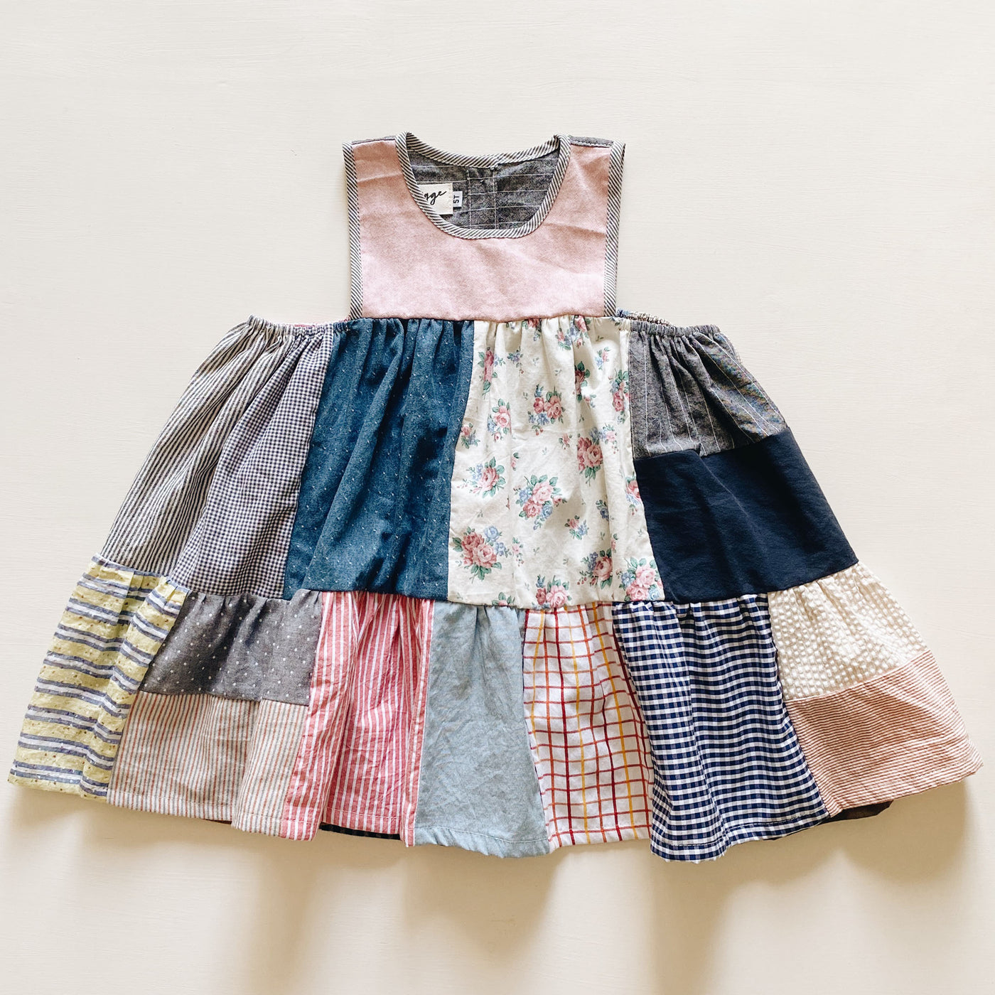 tank dress | patchwork pink | size 4/5y