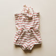 edith romper | red stripe