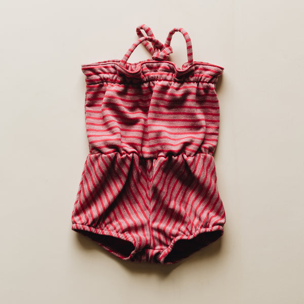 edith romper | teaberry