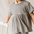 hattie tee | charcoal stripe