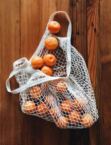 market bag | tote handle | cotton mesh bag