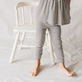slim leggings | charcoal stripe