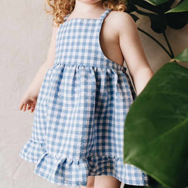 neta dress | bonnie blue