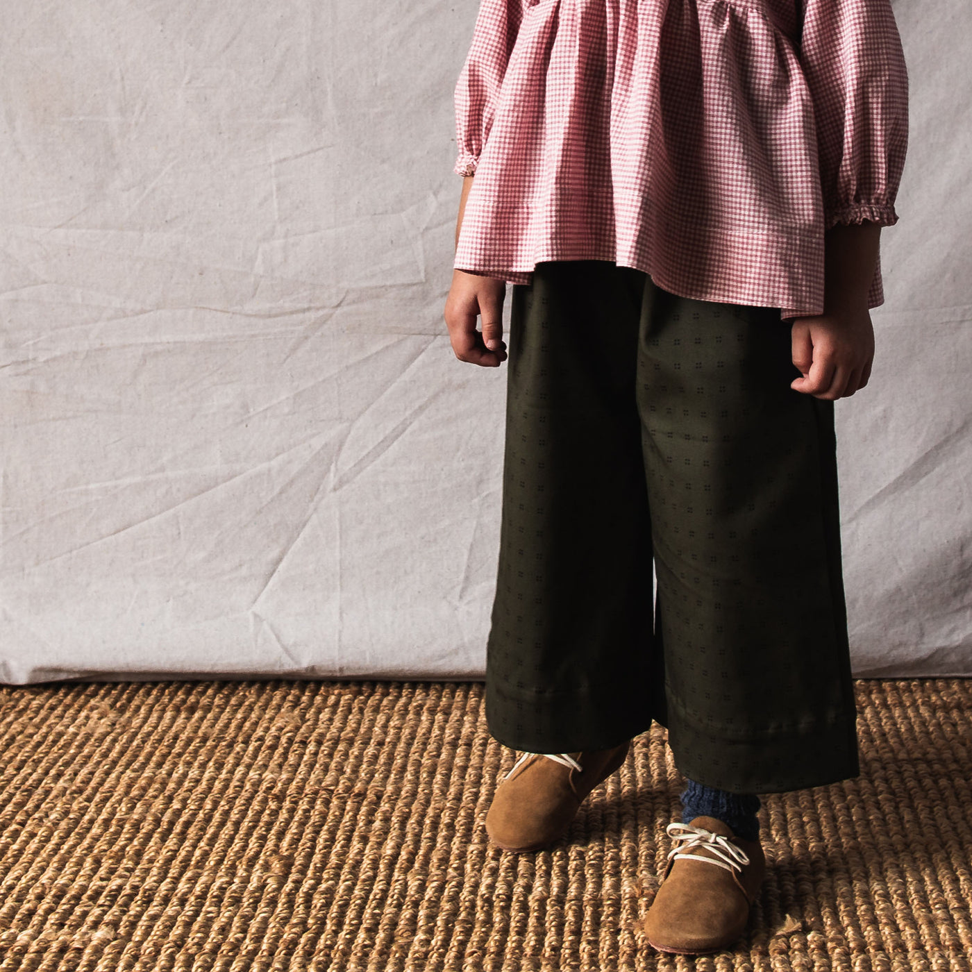 piper trouser | olive dots