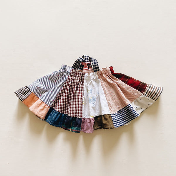 suspender skirt | patchwork dot | size 2/3y