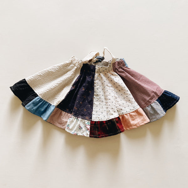 suspender skirt | patchwork dot | size 4/5y