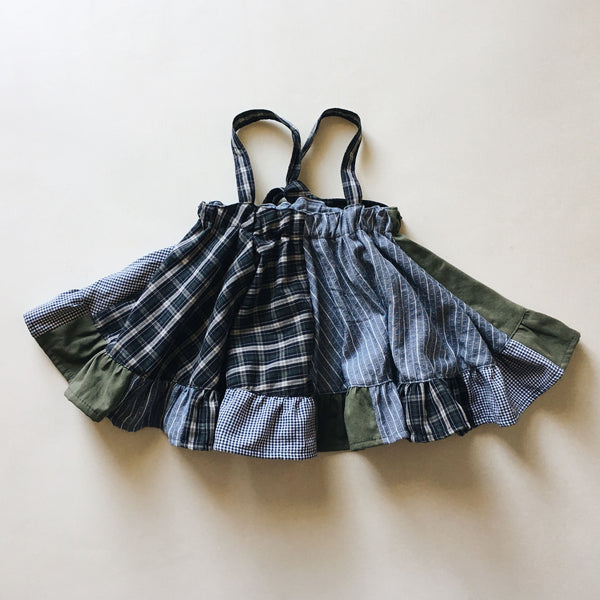 OOAK suspender mini skirt | plaid | size 4/5y