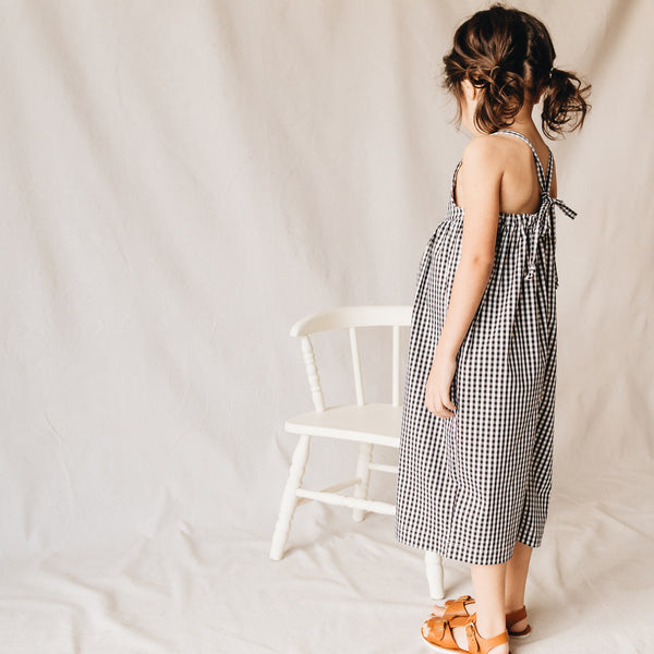 willa jumpsuit | bw gingham