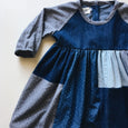 OOAK field dress | patchwork denim | size 4/5y