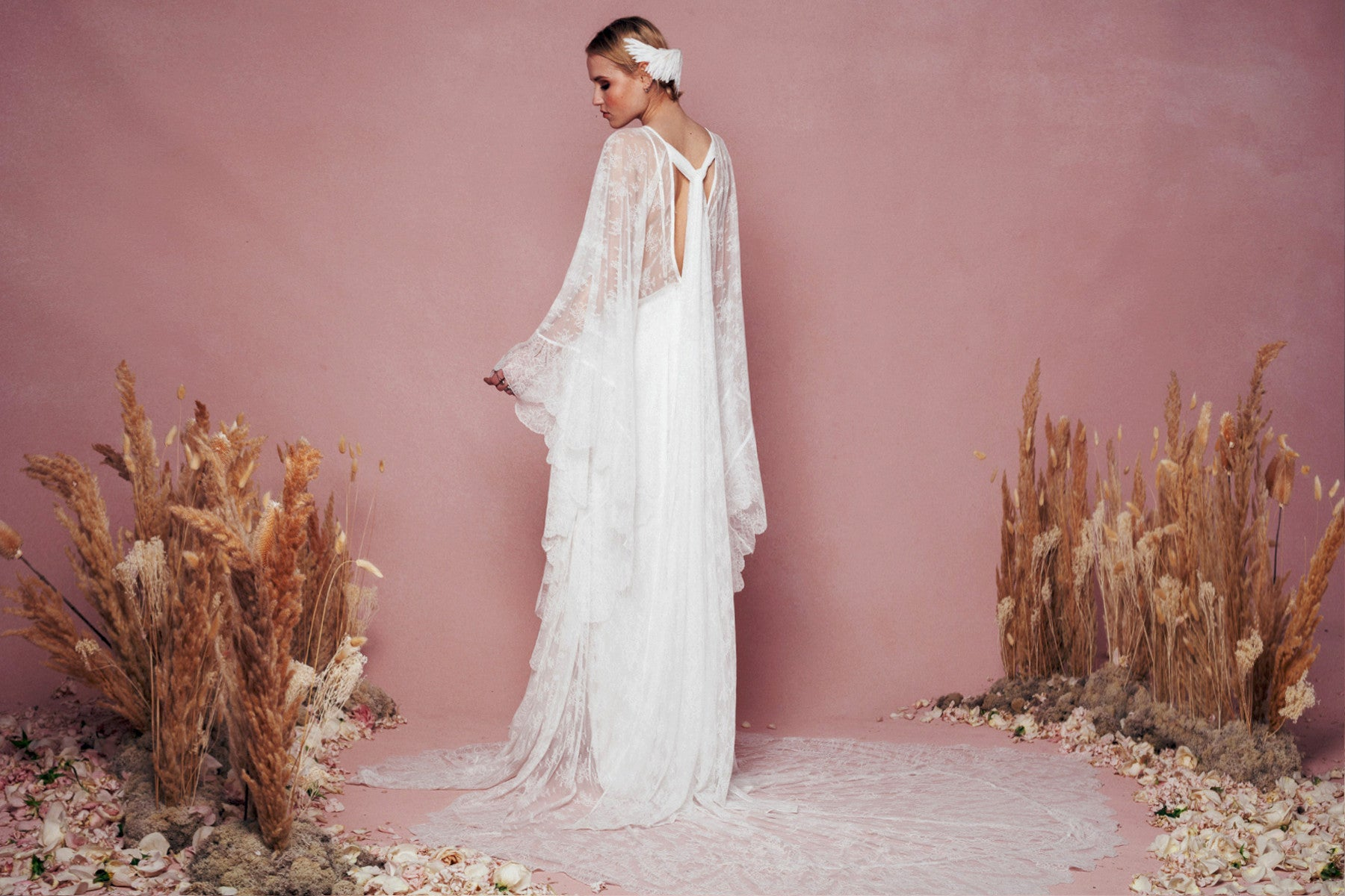THE FAUVINA KAFTAN GOWN & IRIS SLIP