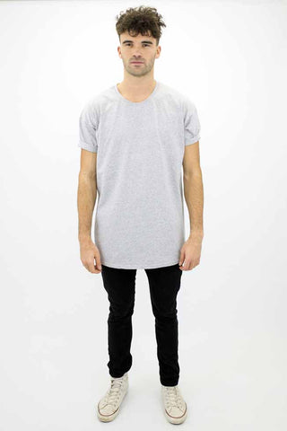 DEEP Basic Mens Oversize Classic T-Shirt in Sport Grey