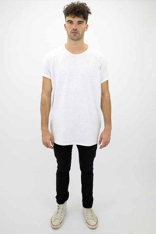 DEEP Basic Mens Oversize Classic T-Shirt in Ash Grey.