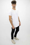 DEEP Basic Mens Oversize Classic T-Shirt in White