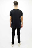 DEEP Basic Oversize Short Sleeved Mens T-Shirt in Black